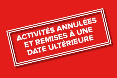 Activités annulées